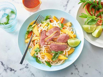 Duck and Mango Noodle Salad