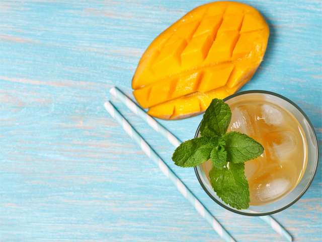 DIY Mango Green Iced Tea