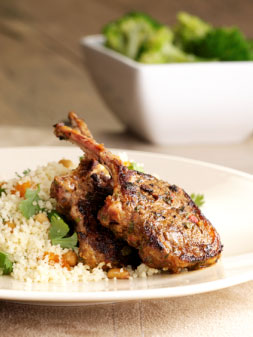 Marinated Lamb with Cous Cous