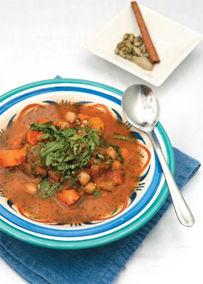 Soup for all Seasons, Spicy moroccan pumpkin and chickpea soup