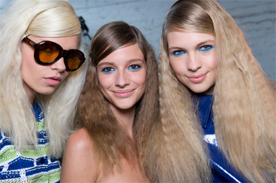 Sam McKnight for Pantene Pro-V, at Moschino Cheap and Chic S/S 13