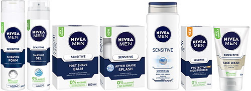 Nivea Men Sensitive Range Packs