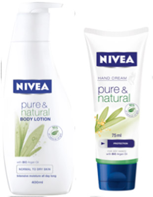 Nivea Pure & Natural Body Lotion & Hand Cream