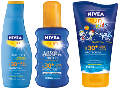 Nivea Sun Summer Products