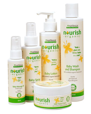 Soothe and Bathe Baby the Natural Way with Natralia Nourish Organic Baby Product