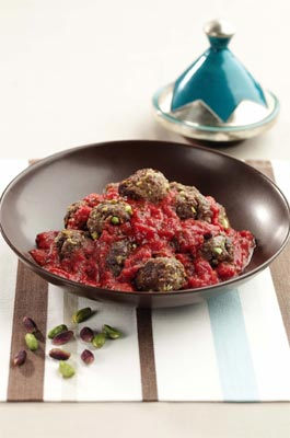 Moroccan meatballs with pistachios