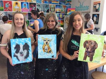 Cork & Canvas' Paint Your Pet Class
