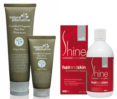 Natural Alternative Shine and Paw Paw