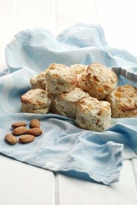 Peach and almond scones