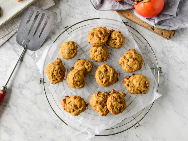 Chewy Persimmon and Ginger Cookies