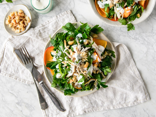 Persimmon and Herb Chicken Salad