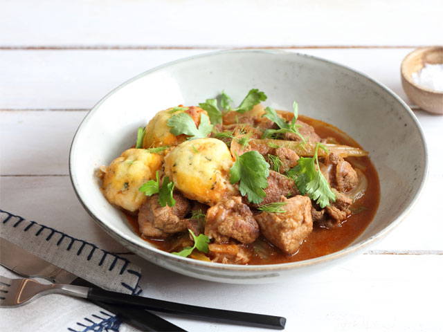 Callum Hann's Pork and Apple Cider Ragu with Sage and Polenta Dumplings