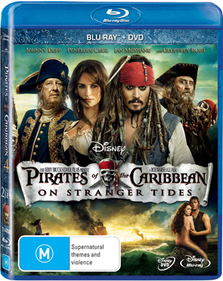 Pirates of the Caribbean: On Stranger Tides DVD and Blu-ray