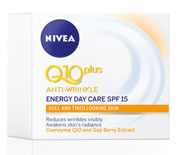 NIVEA Q10Plus Anti-Wrinkle Energising Day Cream SPF15 with Goji Berry Extract and Coenzyme Q10