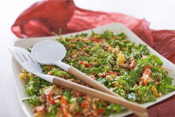 Quinoa and Fig Salad with Lemon Dressing