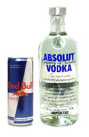 Red Bull Energy Drink Mixed With Vodka - Alcoholic vodka red bull mix
