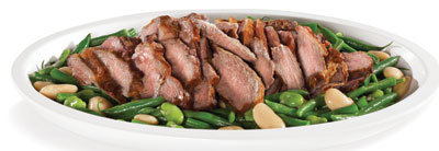 Citrus Roasted Lamb with Mixed Beans