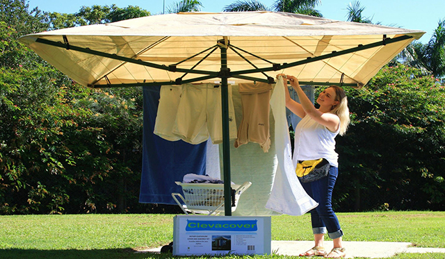 Win Austral Rotary Clothesline and Cover