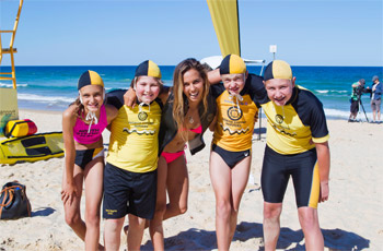 Sally Fitzgibbons, Surf Life Saving and The Smurfs 5 Key Surf Safety Messages