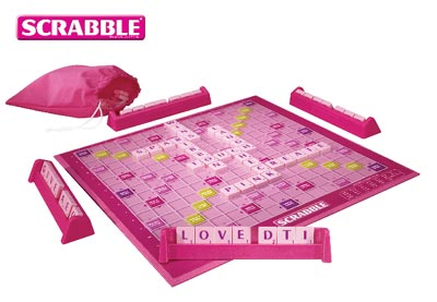 Pink Scrabble Boards