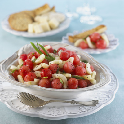 Sweet and Sour Seedless Watermelon and Cucumber Salad