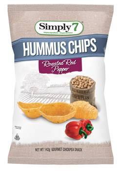 Simply 7 Snacks Hummus Roasted Red Pepper