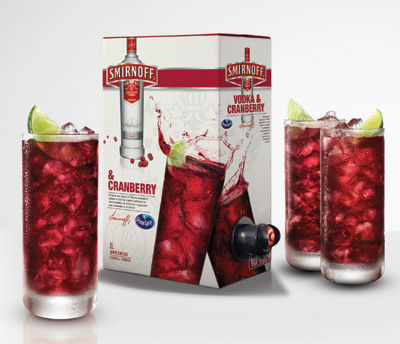 Smirnoff Vodka and Ocean Spray Cranberry