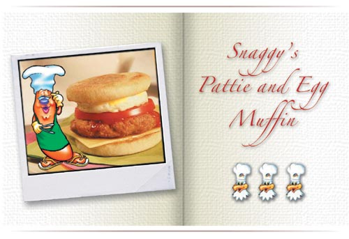 Lenard's Snaggy's Pattie and Egg Muffin