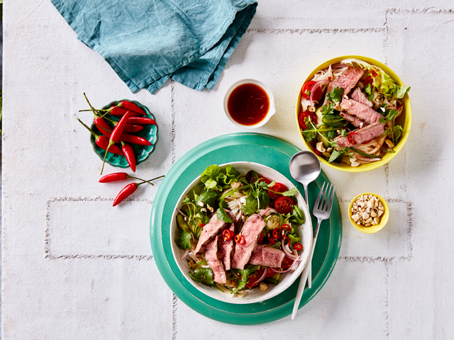 Spicy Thai Lamb and Noodle Salad