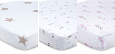Aden & Anais Super Star Fitted Cot Sheet
