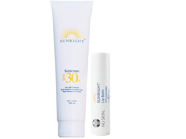Nu Skin SUNRIGHT Sunscreen SPF30+ and Lip Balm