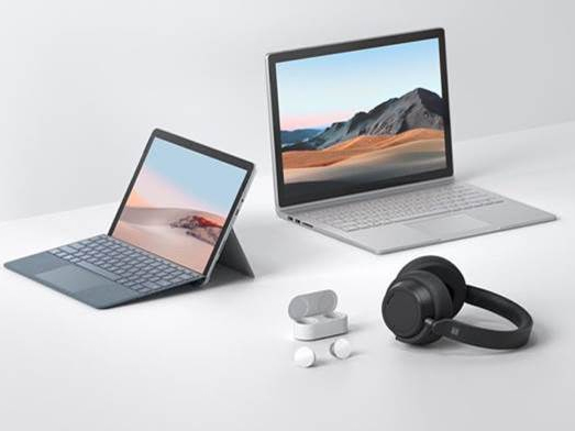 Surface Go 2, Surface Book 3, Surface Headphones 2 and Surface Earbuds