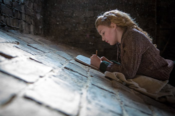 Sophie Nélisse and Geoffrey Rush The Book Thief