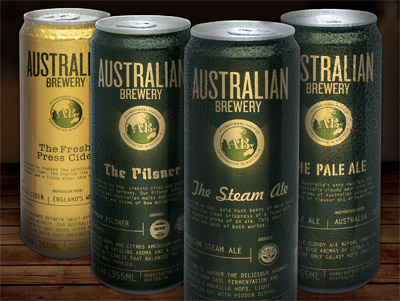 Australian Brewery The Pilsner and The Pale Ale