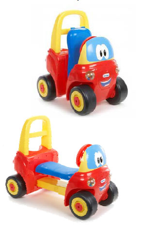 Two-in-One Walker and Ride-On for Little Tikes