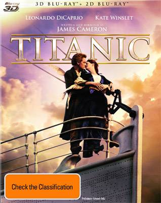 Titanic Blu-ray 2D and 3D