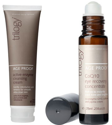 Trilogy Active Enzyme Cleansing Cream & Eye Recovery Concentrate