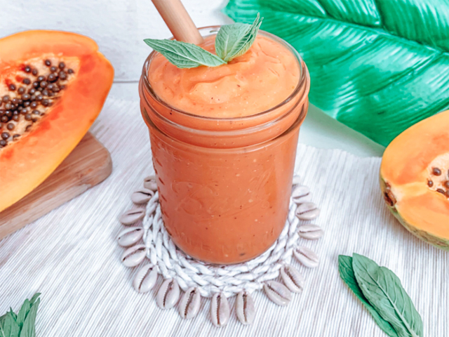 Creamy Tropical Papaya Smoothie