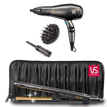 VS Sassoon Total Protection Ceramic Intense Salon Professional AC Dryer and Straightener