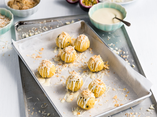 Passionfruit and White Chocolate Truffles