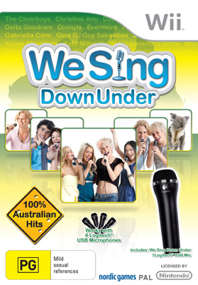 Wii We Sing DownUnder Mic & Game Bundles
