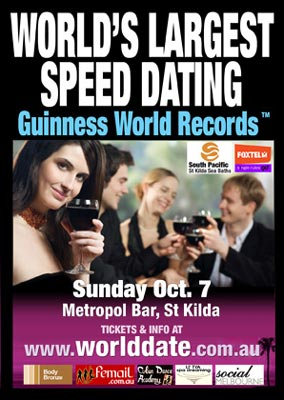 Speed dating races in October
