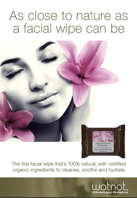 WotNot Naturally Nurturing Facial Wipes