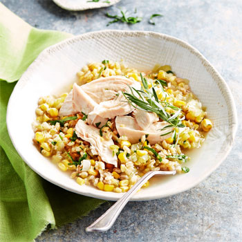Poached Chicken with Leek Stew