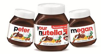 Personalised Nutella Jars