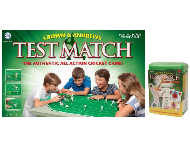 Test Match Cricket Board & Card Game