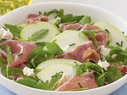 Apple, Prosciutto and Goats Cheese Salad