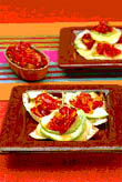 Corn Tortillas with Avocado, Cheese & Sweet Capsicum Chilli Jam