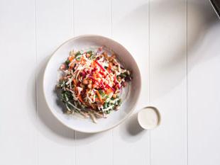 Rainbow Vegetable Salad with Chickpeas