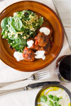 Lamb and Eggplant Kofte with Israeli Couscous